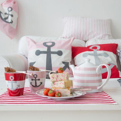 Krasilnikoff Happy Mug Becher Anker Pink