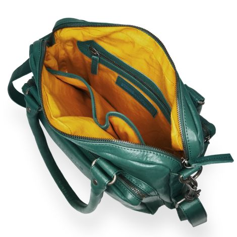 Sticks and Stones Ledertasche Antigua Washed Pine Green