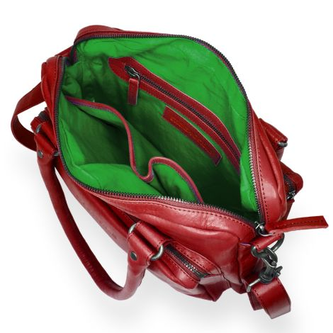 Sticks and Stones Ledertasche Antigua Washed Red