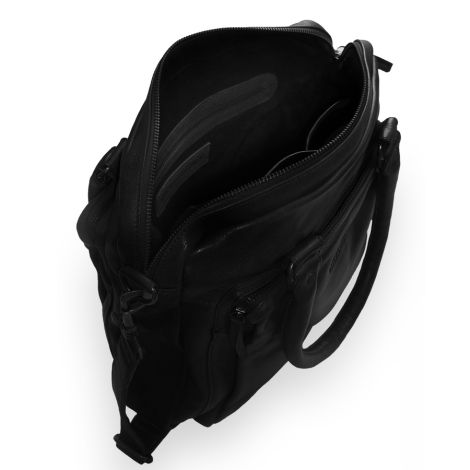 Sticks and Stones Ledertasche Antigua Black