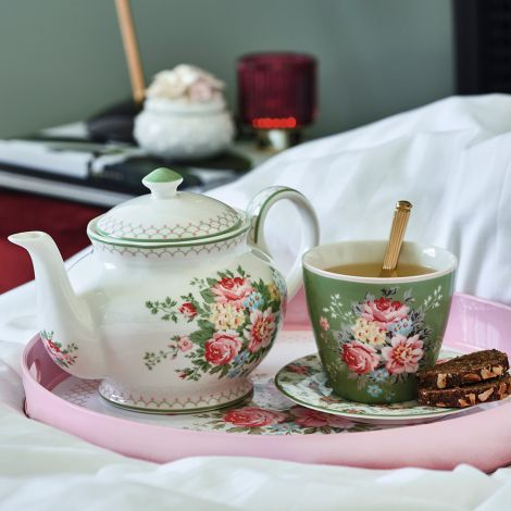 GreenGate Teekanne Aurelia White •