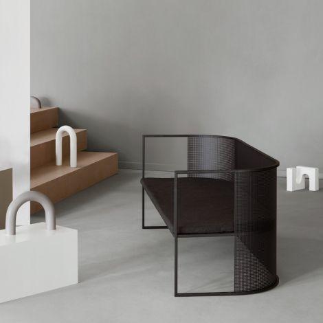 Kristina Dam Studio Bauhaus Lounge Bank Black