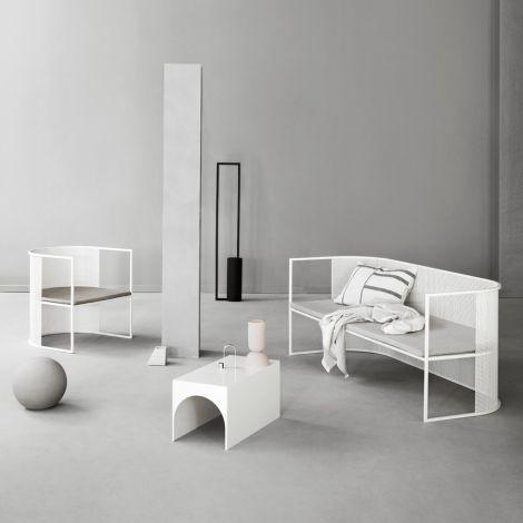 Kristina Dam Studio Bauhaus Stuhl Lounge Chair Beige