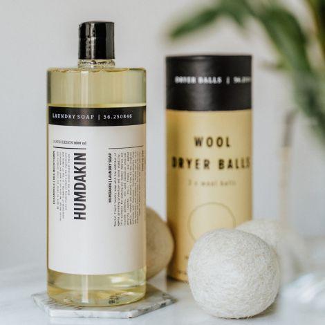 Humdakin Trocknerbälle aus Wolle 3er-Set Natural