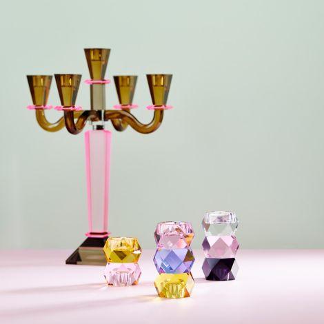 Miss Étoile Kerzenhalter für Teelicht und Stabkerze Black/Clear/Rose