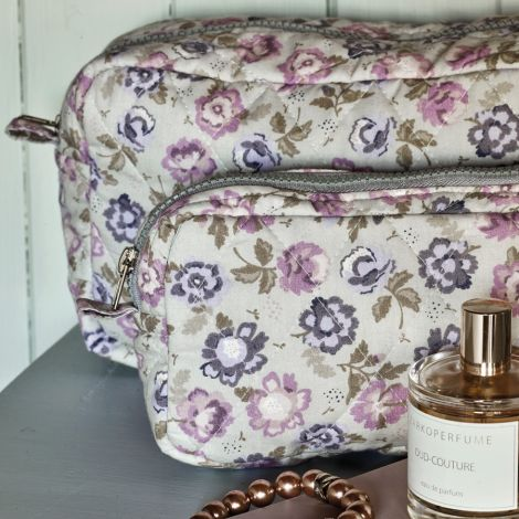 GreenGate Kosmetiktasche Beatrice Pale Grey M