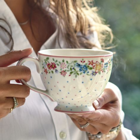 GreenGate Teetasse Belle White