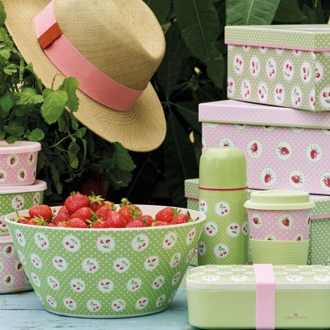 GreenGate Mäppchen Strawberry Pale Pink