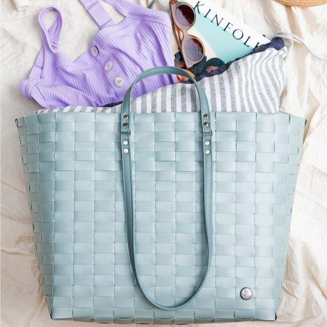 Handed By Tasche Shopper Go mit Cover zum Zuziehen Greyish Green