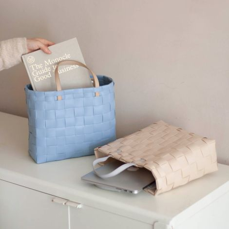 Handed By Shopper Petite mit Innentasche Faded Blue