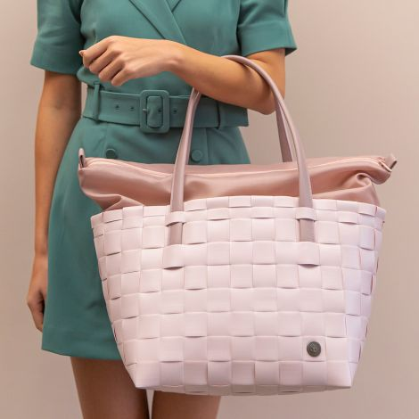 Handed By Tasche Shopper Color Delux mit Zip Cover Nude