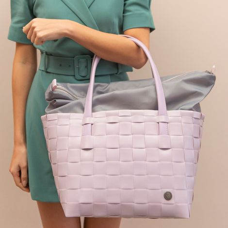 Handed By Tasche Shopper Color Delux mit Zip Cover Soft Lilac