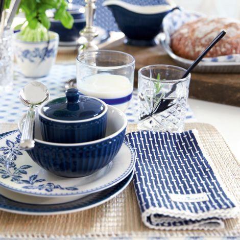 GreenGate Teller Fleur Blue 20cm