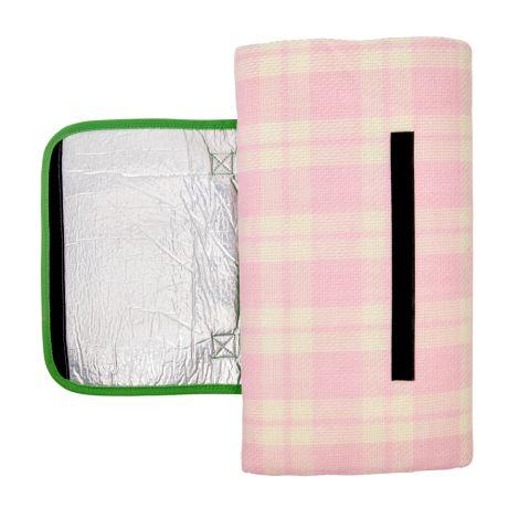 Rice Faltbare Picknickdecke Pink/ Creme