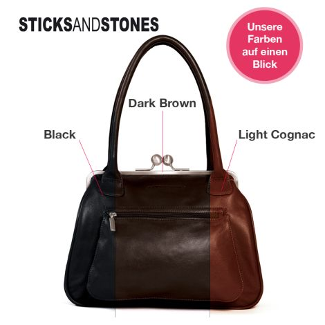 Sticks and Stones Ledertasche Vancouver Light Cognac •