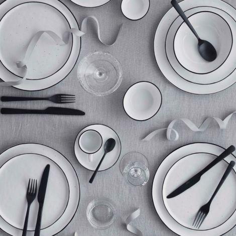 Broste Copenhagen Geschirr-Set Frühstück Salt 16-teilig