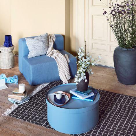 Broste Copenhagen Tisch mit Aufbewahrung Ninna Light Blue 75 cm