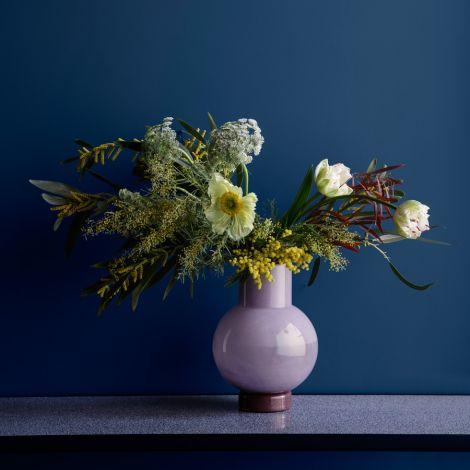 Broste Copenhagen Vase Mari Mundgeblasenes Glas Orchid Hush/Puce Aubergine