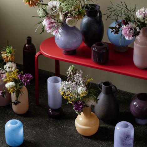 Broste Copenhagen Vase Mari Mundgeblasenes Glas Taupe/Seranity Light Blue