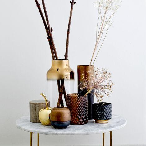 Bloomingville Große Deko-Kirsche Gold •