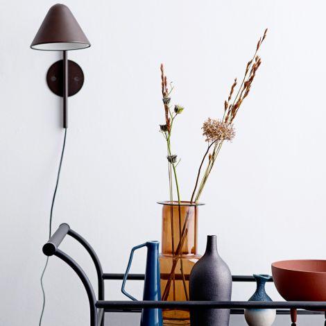 Bloomingville Vase Blue 20,5 cm •