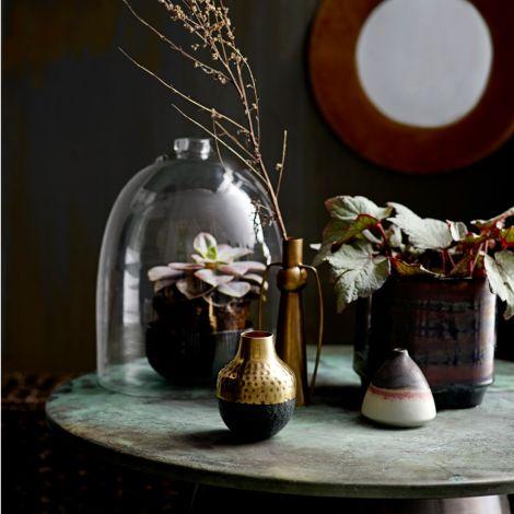 Bloomingville Glaskuppel mit Schale Clear 32 cm •