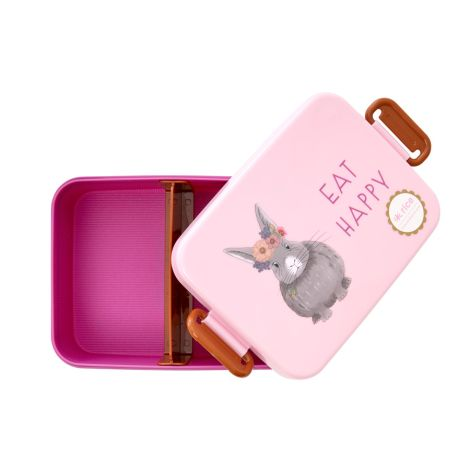Rice Brotdose Lunchbox Farm Animals Pink