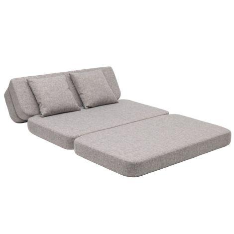 by KlipKlap KK 3 fold Sofa XL soft 140 cm Multi Grey/Grey