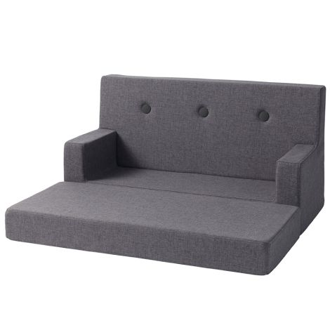 by KlipKlap KK Kids Sofa Blue Grey/Grey