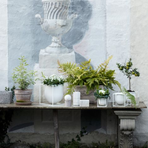 by Lassen Pflanzgefäß Kubus Flowerpot 23 White
