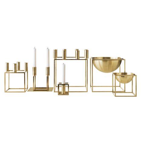 by Lassen Kerzenhalter Kubus 1 Brass