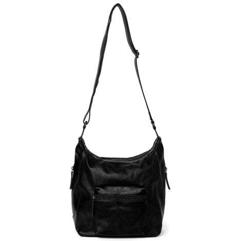 Sticks and Stones Ledertasche Calgary Black Washed