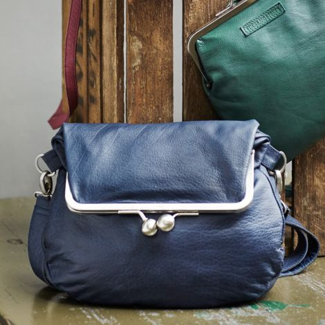 Sticks and Stones Ledertasche Cannes Aqua Washed