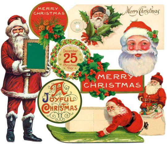 Cavallini Vintage Christmas Stickers