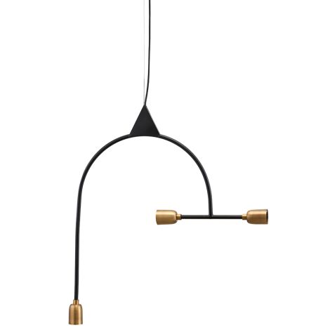 House Doctor Deckenlampe Arch Black/Brass •