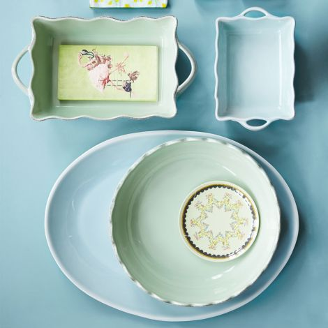 Rice Kleine Keramik Kuchenform Mint