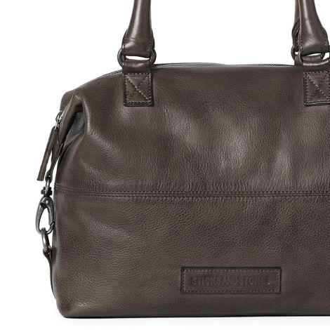 Sticks and Stones Ledertasche Charleston Dark Taupe •