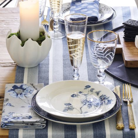 GreenGate Stoffserviette Jacquard Savannah Blue
