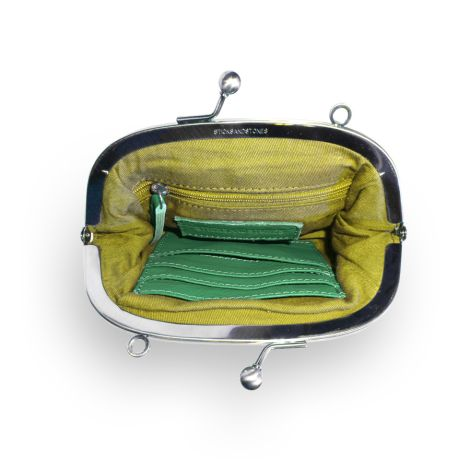 Sticks and Stones Ledertasche Como Cactus Green Washed