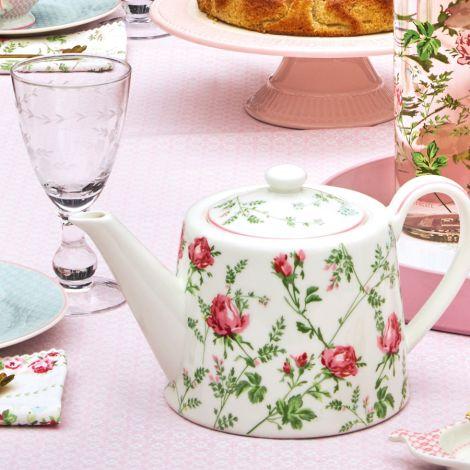GreenGate Teekanne Constance White