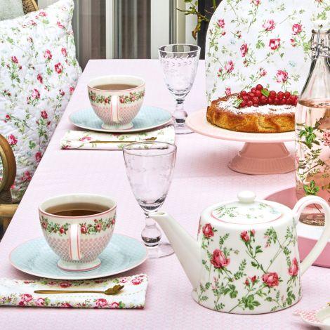 GreenGate Tischdecke Helle Pale Pink 100x100cm
