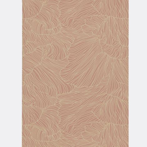 ferm LIVING Tapete Coral Dusty Rose/Beige