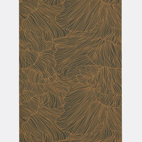 ferm LIVING Tapete Coral Dark Green/Gold