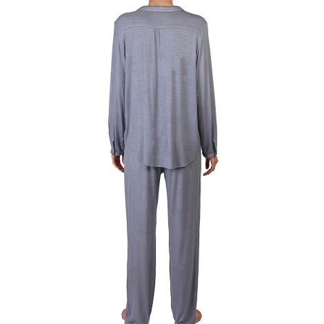 COCOON HOMEWEAR Pyjamajacke Daphne Blau