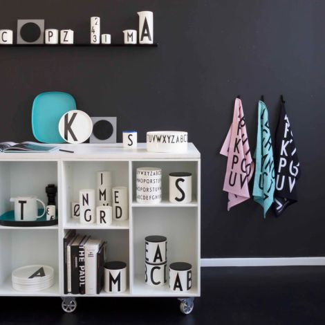 Design Letters Geschirrtuch Black 2er-Set