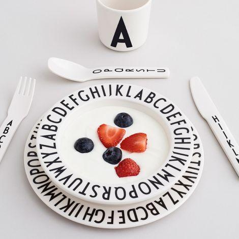 Design Letters Melamin Schale AJ Vintage ABC White