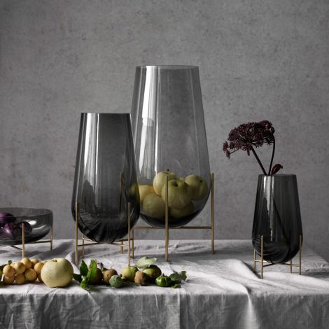 Menu Echasse Vase M Smoke/Brushed Brass
