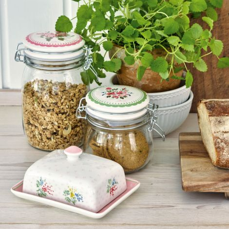 GreenGate Butterdose Square Mira White