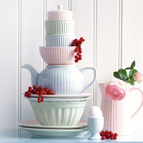 GreenGate Latte Cup Becher Alice Pale Blue