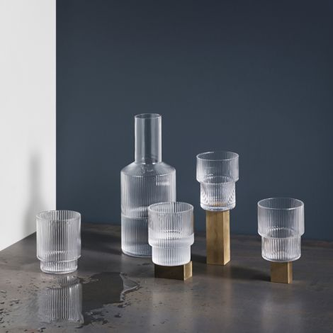 ferm LIVING Glas Ripple 4er-Set